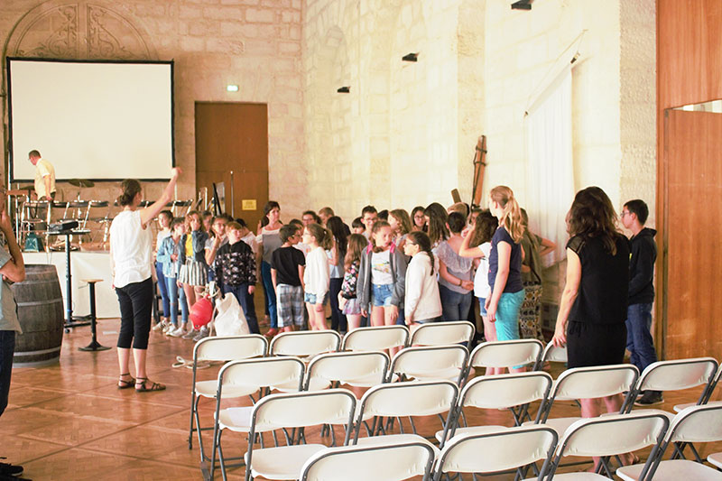 Chorale d'enfants du collège Georges TEXIER de Saint-Jean d'Angély dirigée par Marie LENGAGNE